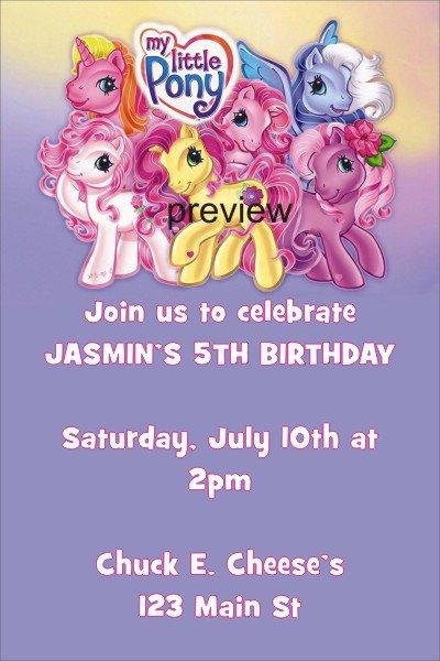 My Little Pony Party Invitation Ideas