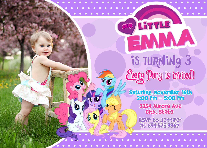 My Little Pony Party Invitation Wording
