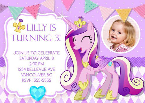My Little Pony Sleepover Invitations