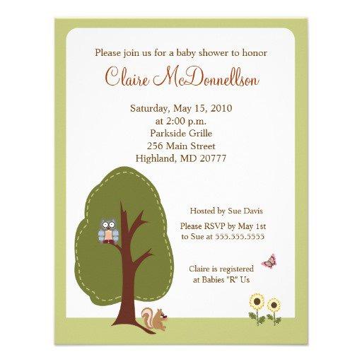 Nature Baby Shower Invitations