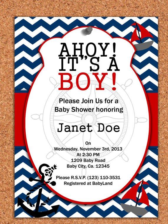 Nautical Baby Shower Invitations Printable