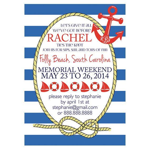 Nautical Bachelorette Invitation