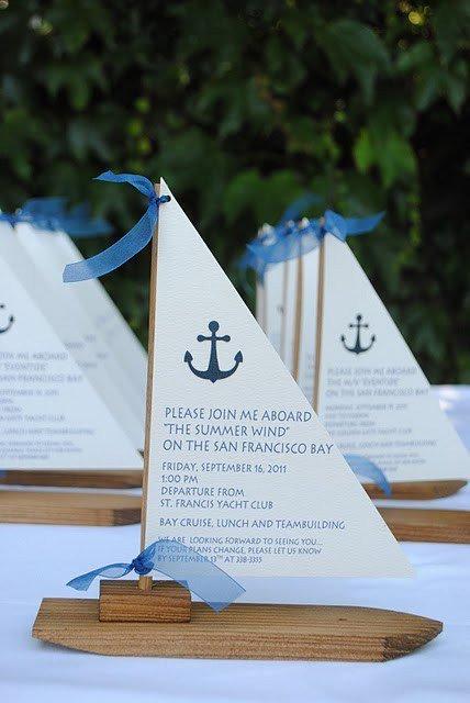 Nautical Wedding Invitations Cheap