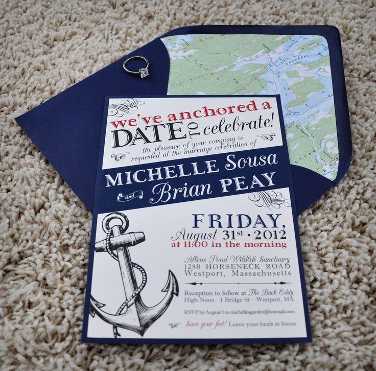 Nautical Wedding Invitations Etsy