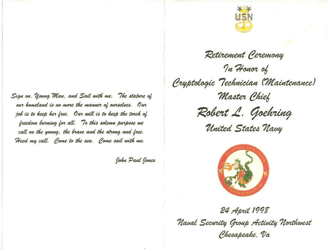 Navy Retirement Invitations Template