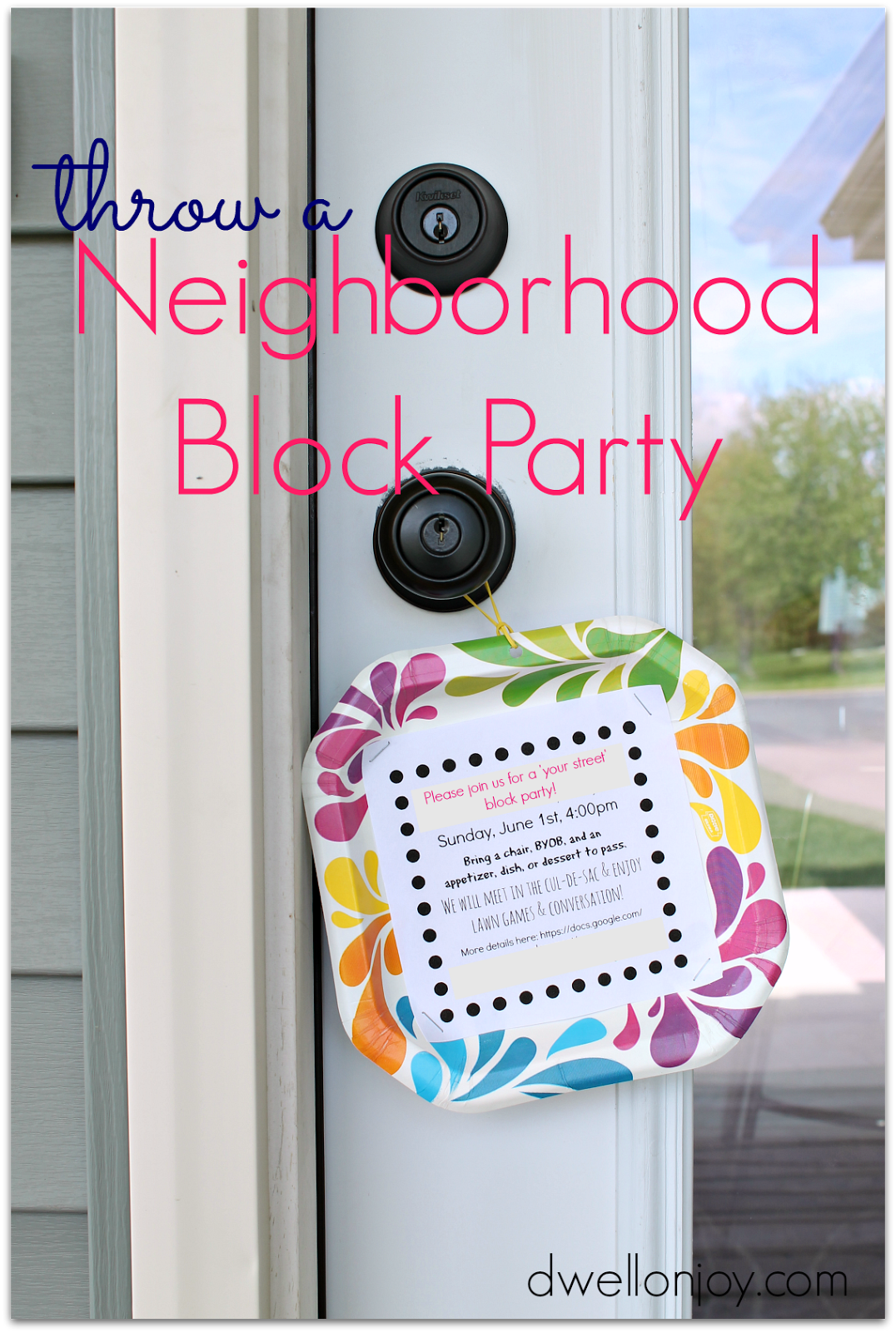 neighborhood block party invitation templet