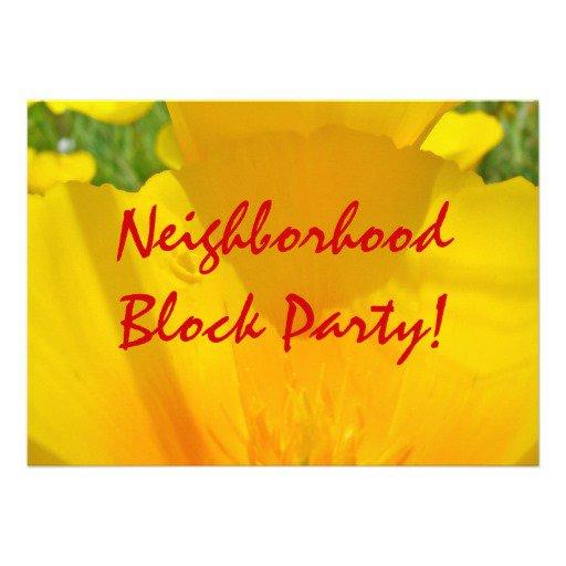 Neighborhood Party Invitation Ideas
