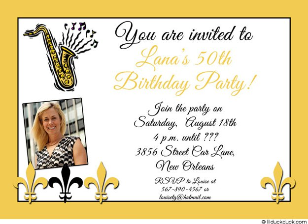 New Orleans Party Invitations