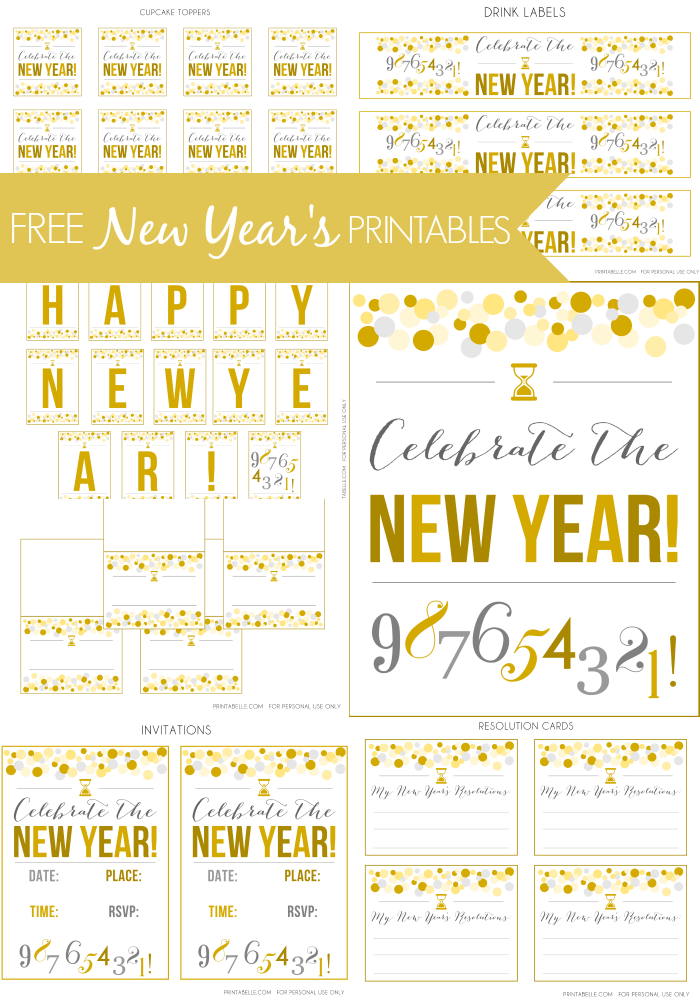 New Years Eve Invitations Free Printable