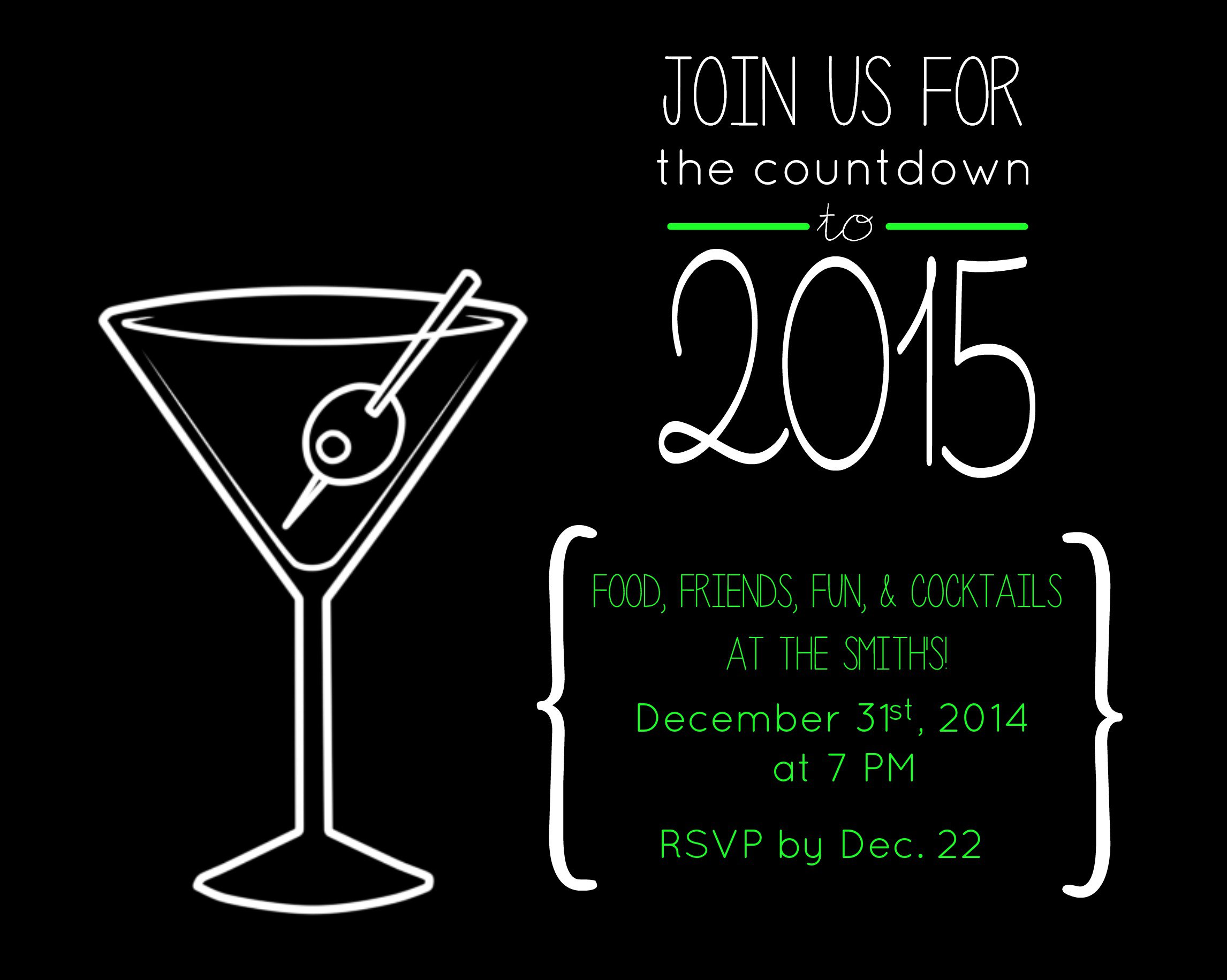 New Years Eve Party Invitation Example