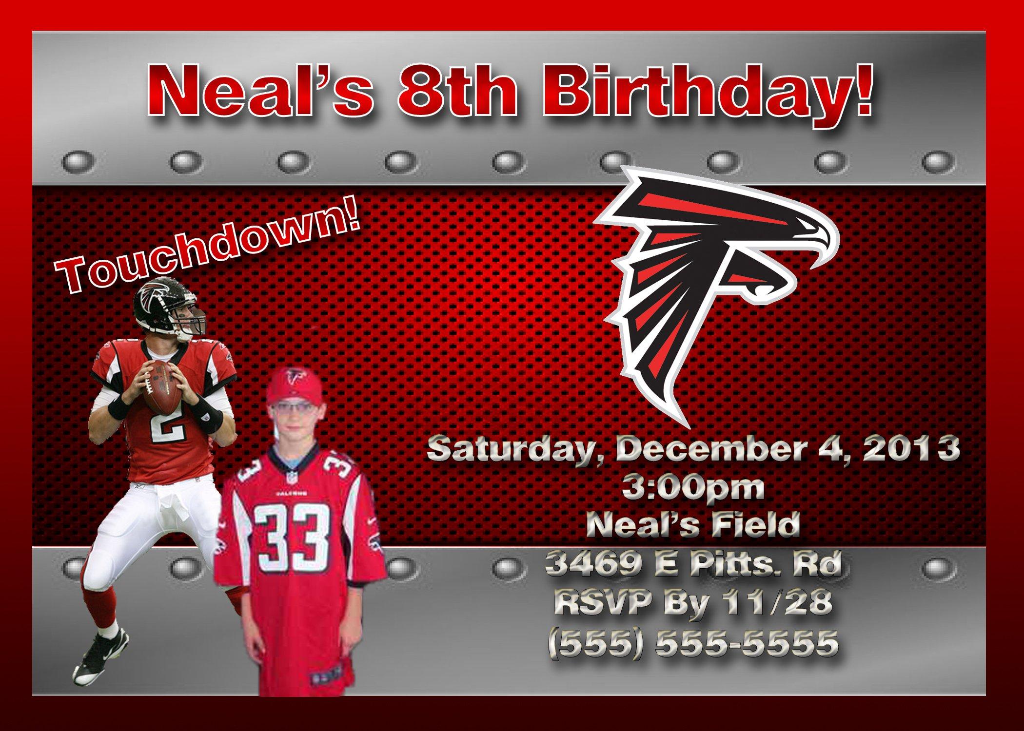 Nfl Birthday Invitations
