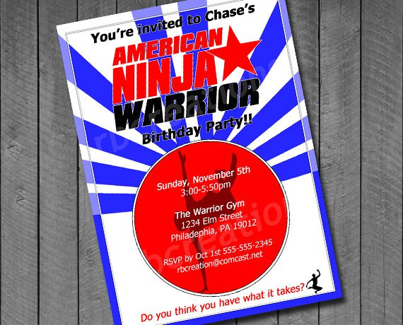 Ninja Birthday Invitations Printable