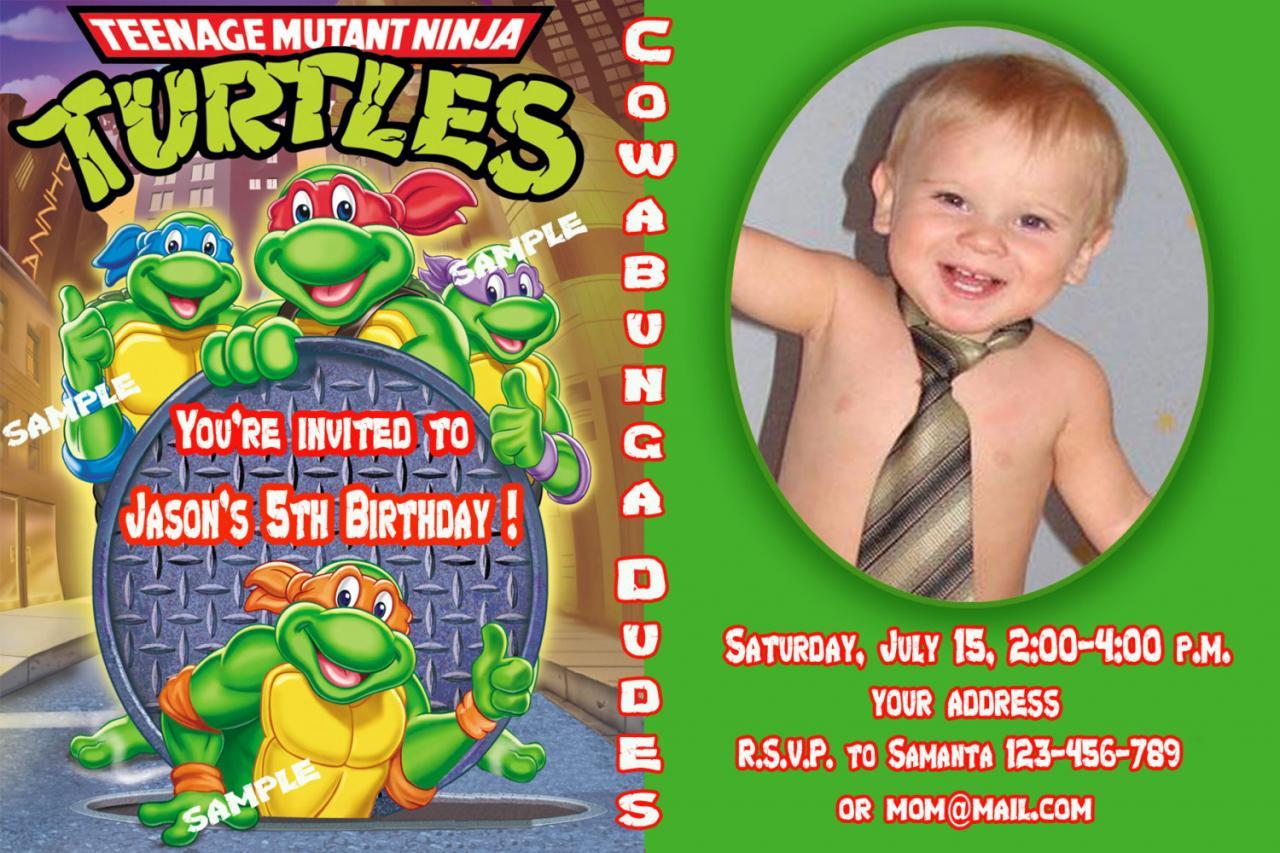 Ninja Turtle Party Invitation Templates