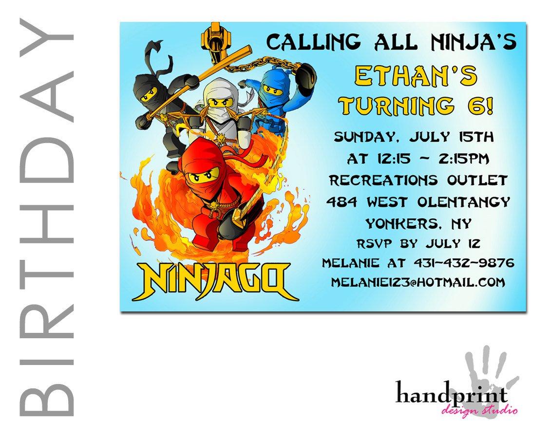 Ninjago Invitations Template