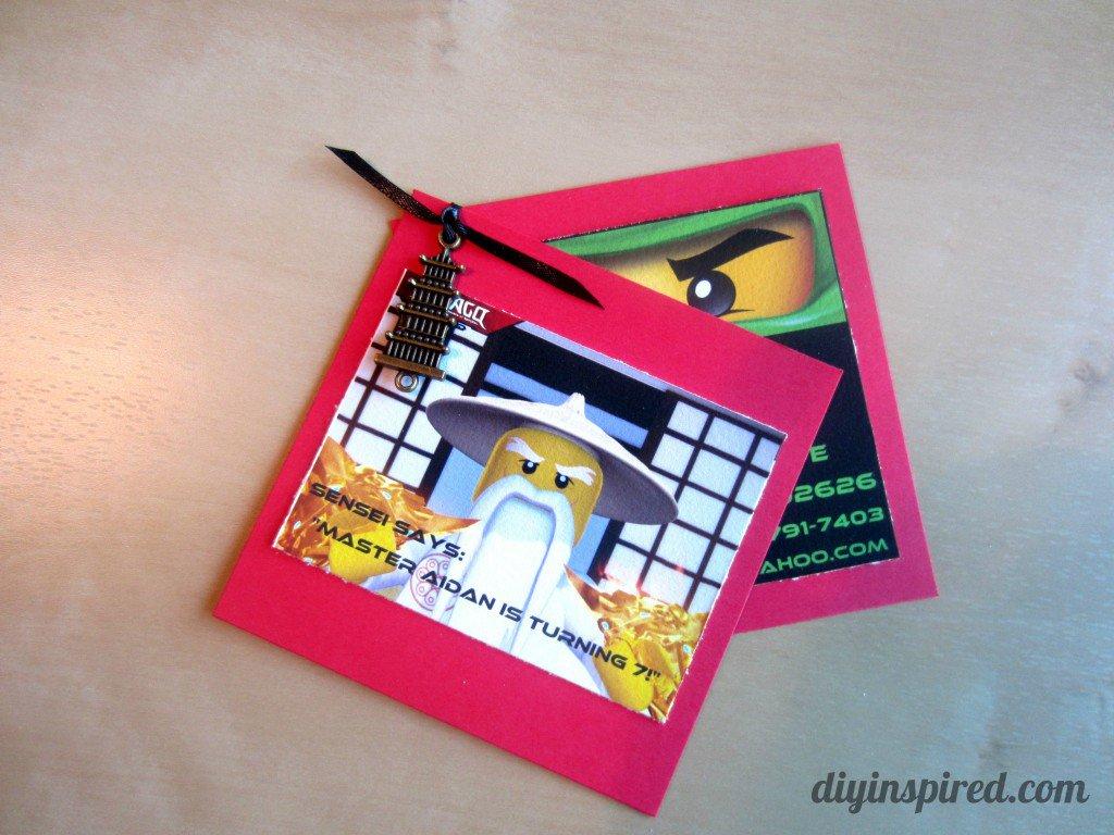Ninjago Invitations Templates