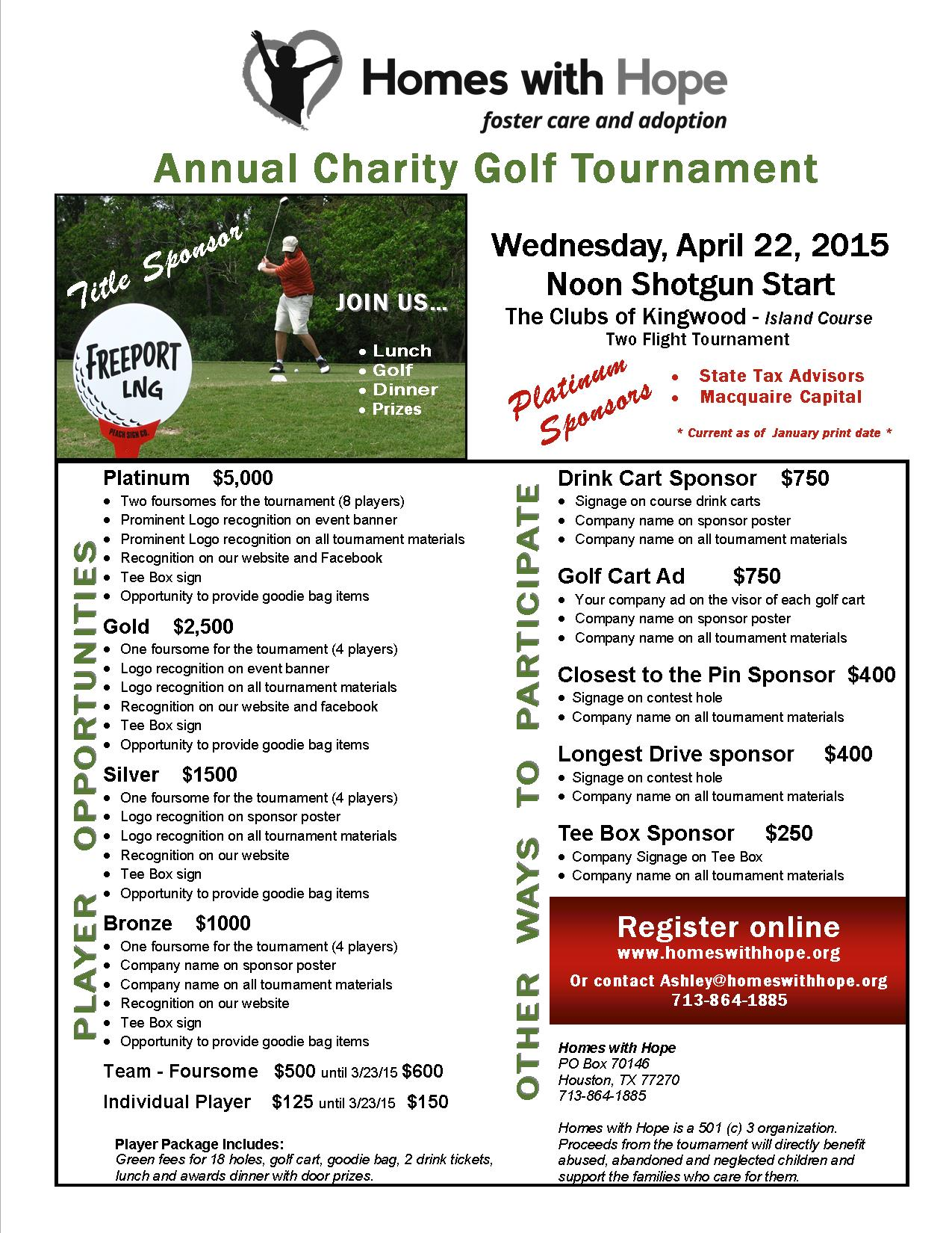 Non-profit Charity Golf Events