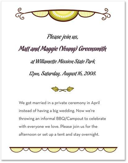 Non-traditional Wedding Invitation Wording