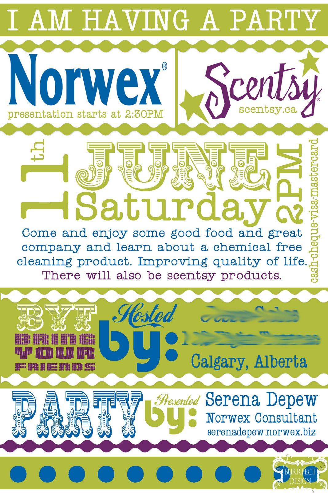 Norwex Party Invitation Templates