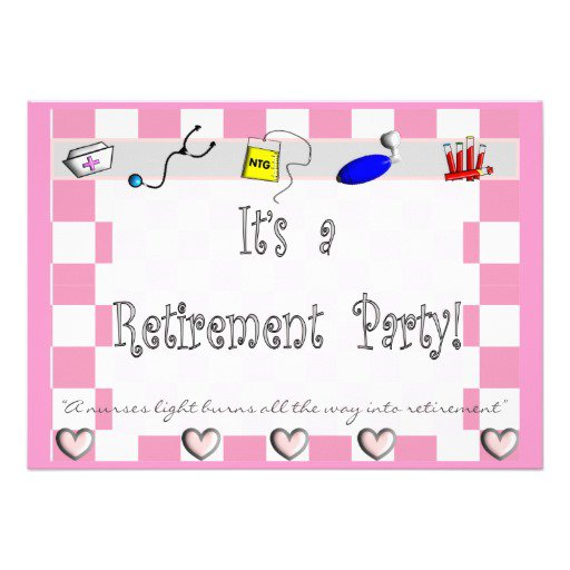 Nurse Retirement Invitations