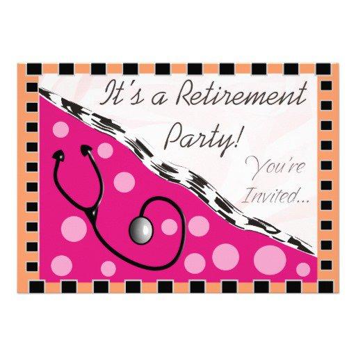Nurse Retirement Party Invitations Unique