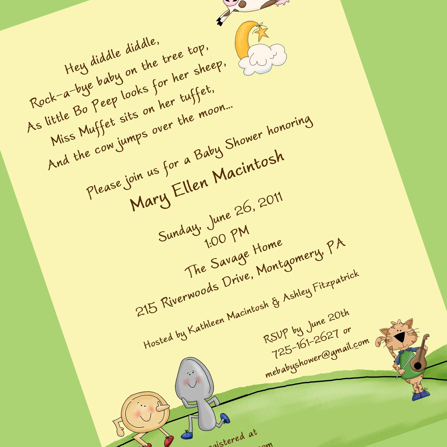 Nursery Rhyme Invitations