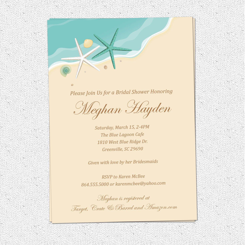 Ocean Wedding Invitations Blank
