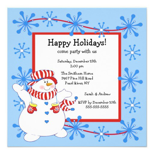 Office Christmas Lunch Invitations