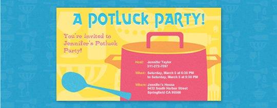 Office Potluck Invitation Email