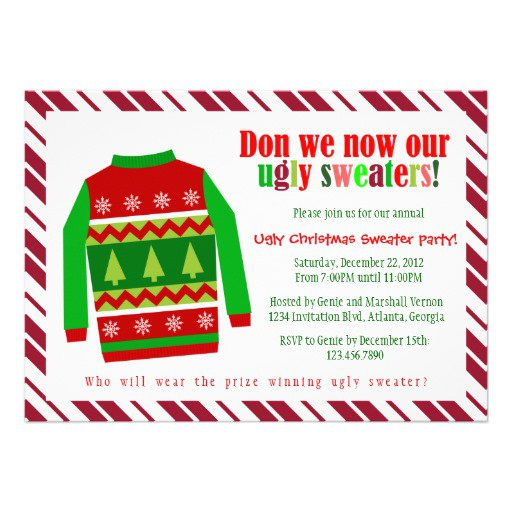 Office Ugly Sweater Party Invitation
