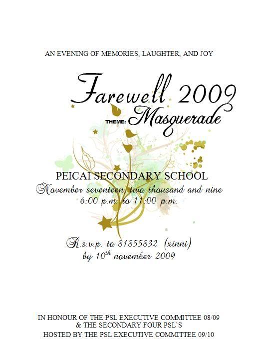 Official Farewell Invitation
