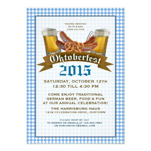Oktoberfest Party Invitation Templates