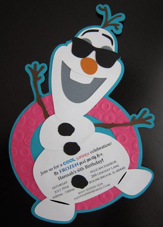 Olaf Handmade Invitations