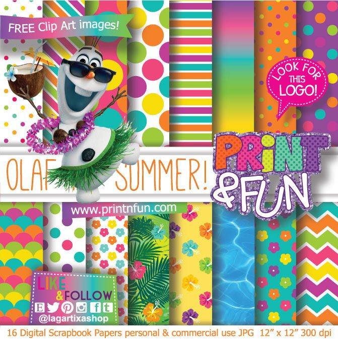 Olaf Pool Party Invitations