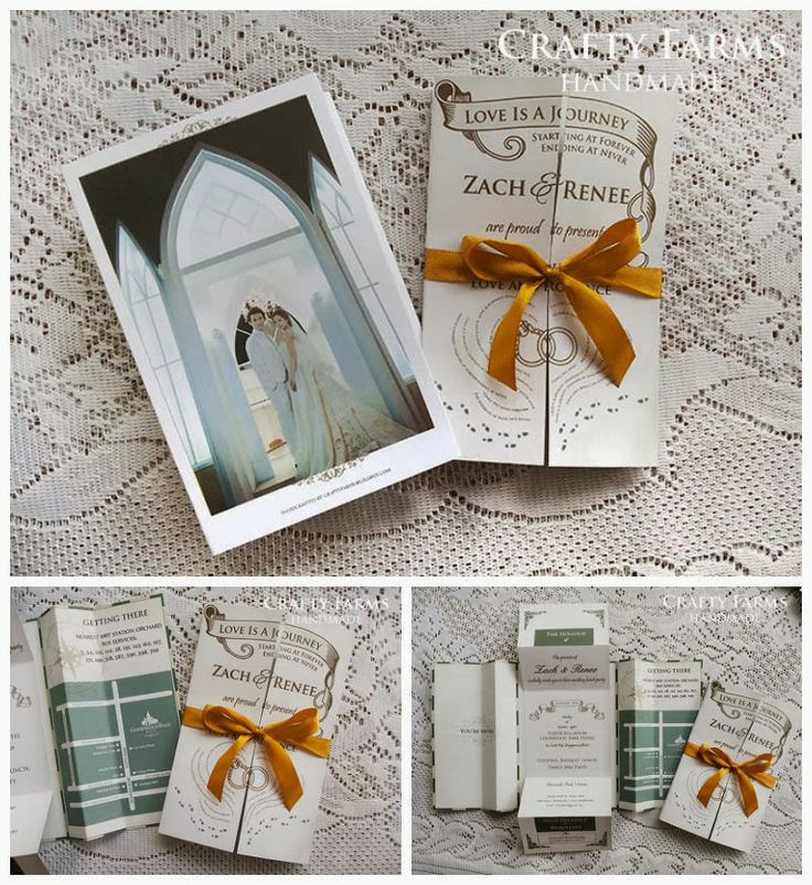 Old English Themed Wedding Invitations