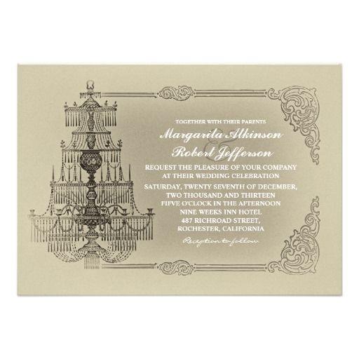 Old Wedding Invitations English