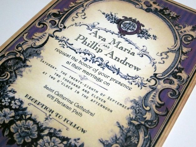 Old Western Wedding Invitations