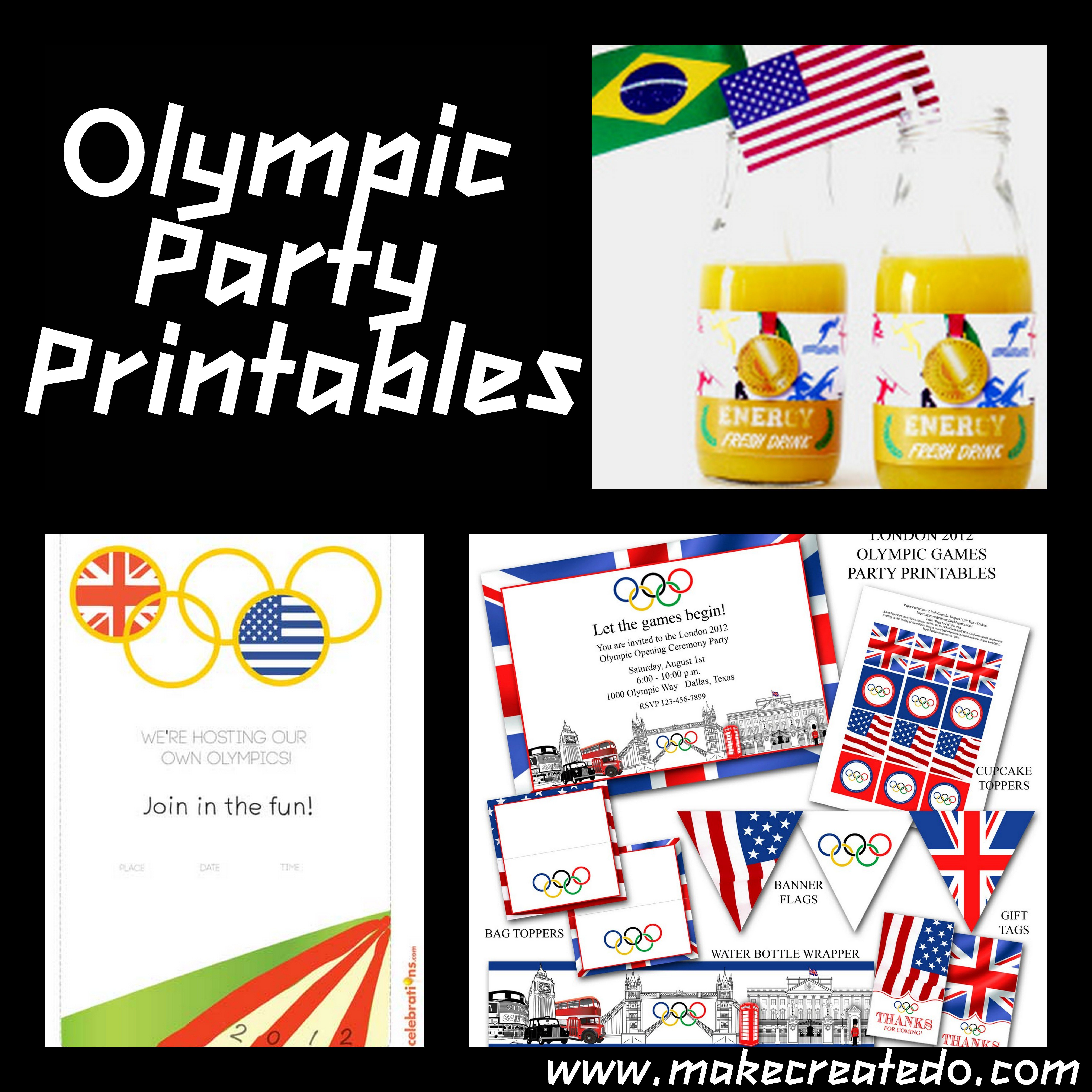 Olympic Party Invitations Printable