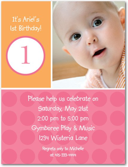 Year Old Birthday Invitation Wording – One Year Old Birthday Invitation