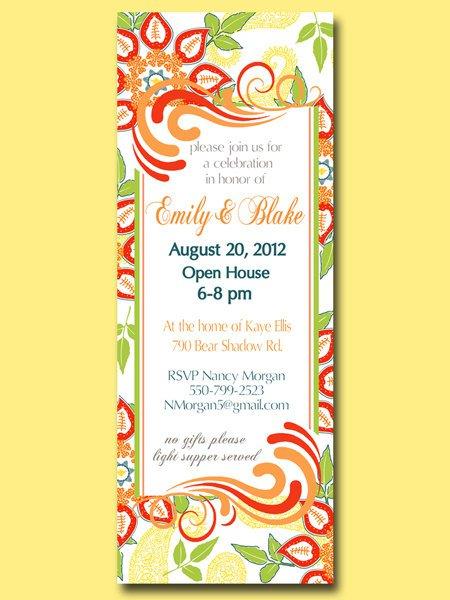 Open House Birthday Party Invitation Wording