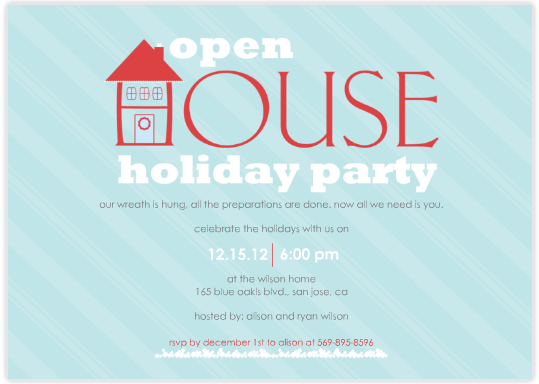 Holiday Open House Invitation Ideas,Open.Invitation Card
