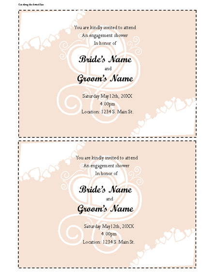 Open Office Baby Shower Invitation Template
