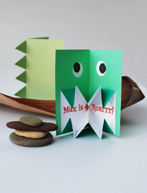 Origami Dinosaur Invitation