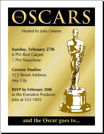 Oscar Award Invitations