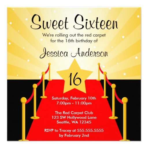 Oscar Birthday Party Invitations