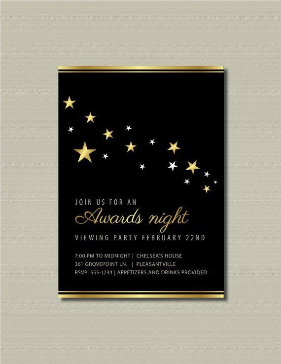 Oscar Party Invitation Wording