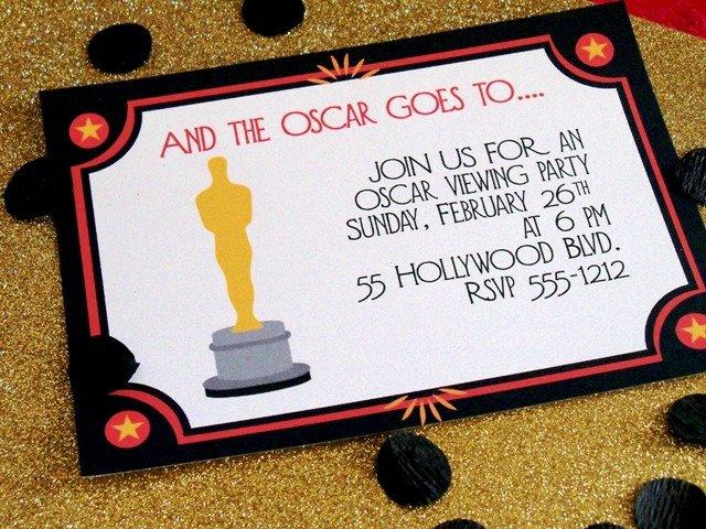 Oscar Party Invitations Templates
