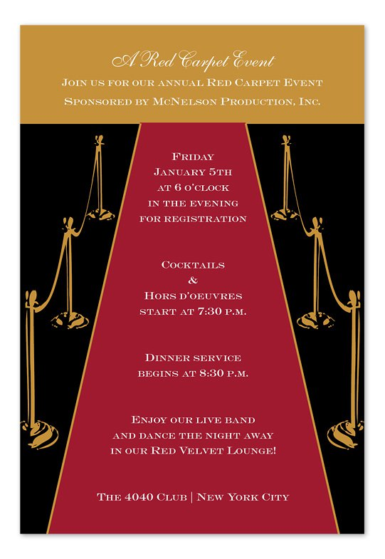 oscar party invitations templates sample