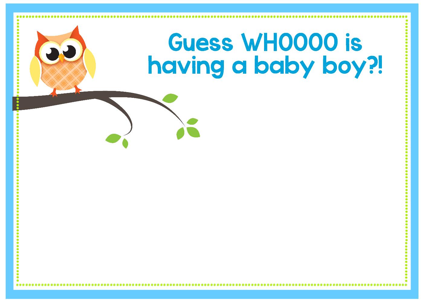 Owl Baby Shower Invitations Printable