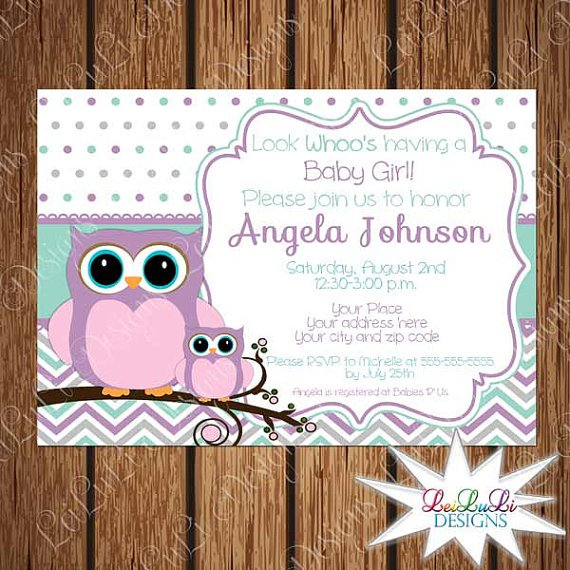 Owl Baby Shower Invitations Walmart