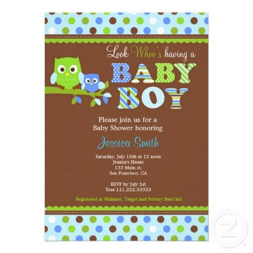 Owl Invitations Baby Shower